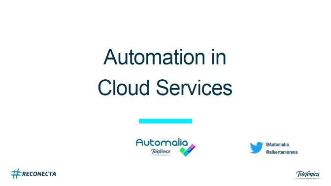 Automation in cloud services
